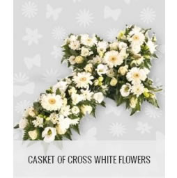 funeral flowers philippines casket of cross white flower