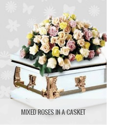 funeral flowers philippines mixed roses in a casket
